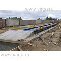 Весы автомобильные с полным заездом ВСА-Р40000-6.2